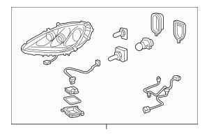 2005-2007 Chevrolet Corvette Headlamp Assembly 19352131
