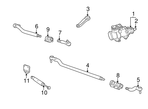 Steering Gear & Linkage for 2000 Ford F-250 Super Duty