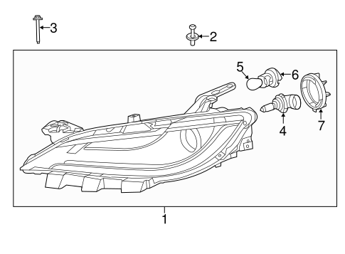 HEADLAMP COMPONENTS for 2015 Chrysler 200