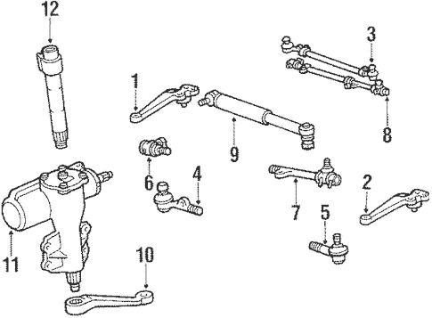 Steering Gear & Linkage for 1984 Toyota Land Cruiser