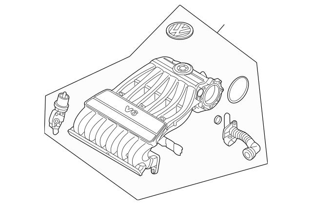 2006-2008 Volkswagen Intake Manifold 03H-133-185-K