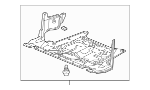 2009-2014 Acura Cover Assembly, Engine (Lower) 74110-TL2