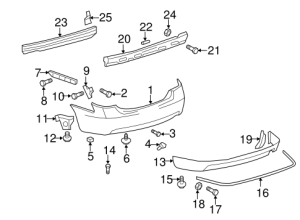Genuine OEM Bumper & Components  Rear Parts for 2010 Toyota Camry SE  Olathe Toyota Parts Center