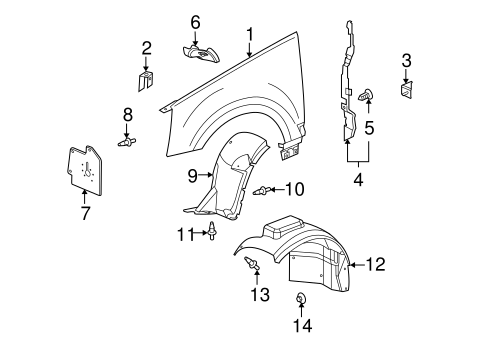 FENDER & COMPONENTS for 2008 Cadillac SRX