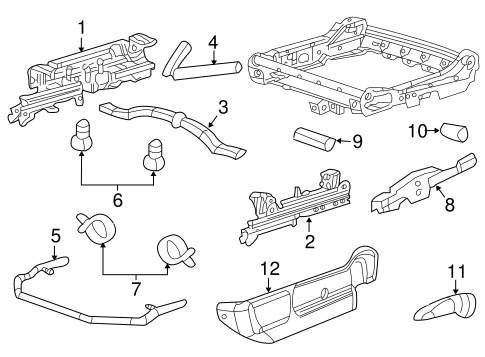 OEM 2003 Chevrolet Impala Tracks & Components Parts