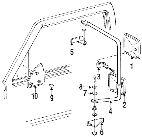 OUTSIDE MIRRORS for 1992 Chevrolet K1500 Pickup