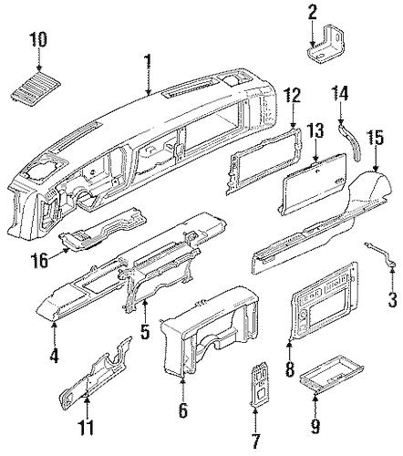 OEM INSTRUMENTS & GAUGES for 1991 GMC Jimmy S15