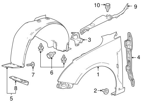OEM 2013 Chevrolet Cruze Fender & Components Parts