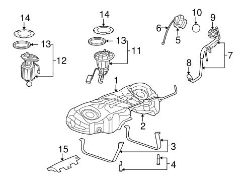 Fuel System Components for 2006 Dodge Magnum Parts