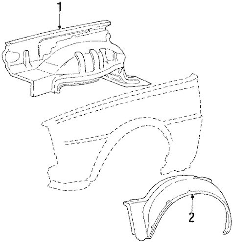 INNER COMPONENTS for 1984 Mitsubishi Mighty Max