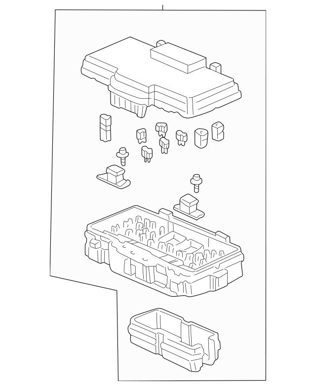 2002-2003 Honda CIVIC SEDAN Box Assembly, Relay 38250-S5A