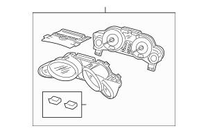 2010-2013 Acura MDX 5-DOOR Meter Assembly, Combination