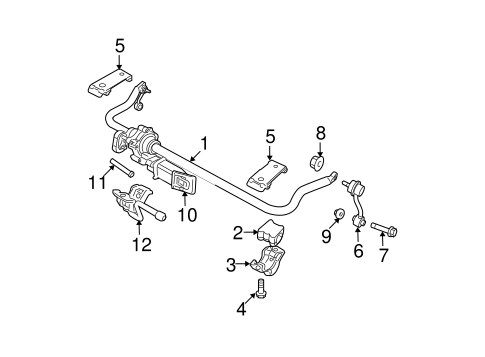 STABILIZER BAR & COMPONENTS for 2011 Jeep Wrangler