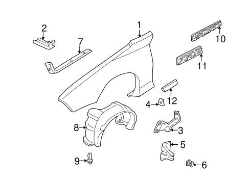 OEM 2001 Chevrolet Camaro Fender & Components Parts
