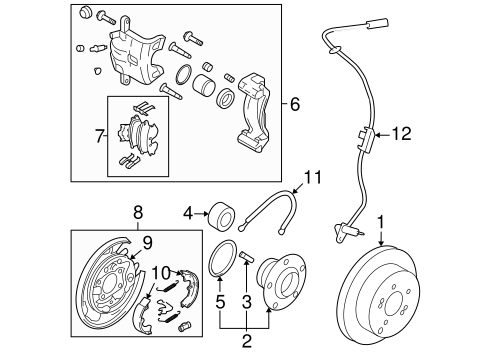 BRAKE COMPONENTS for 2009 Kia Sportage
