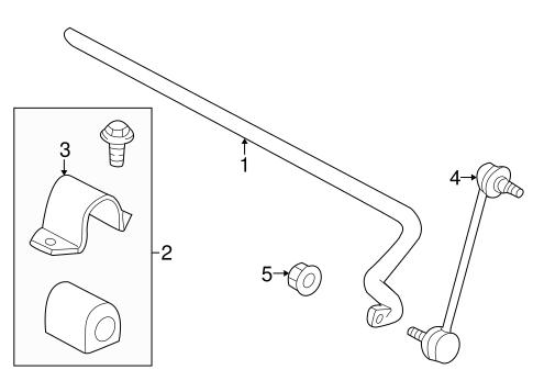 OEM 2000 Saturn LS1 Stabilizer Bar & Components Parts