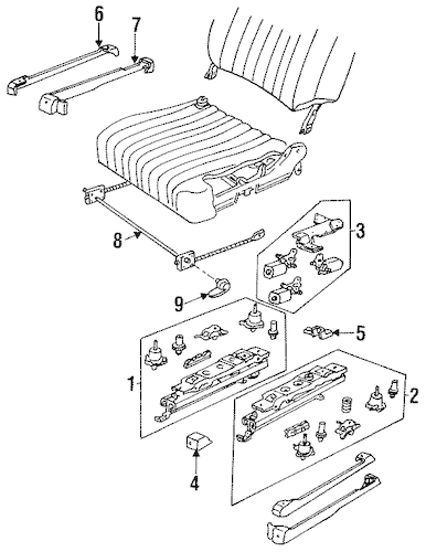 POWER SEAT TRACKS & COMPONENTS for 1996 Chevrolet Impala