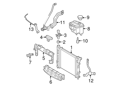 Radiator & Components for 2006 Mercedes-Benz C 280