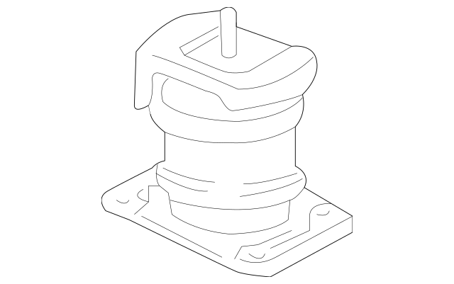 Original Rubber, Front Engine Mounting (ECM) for 2003-2006
