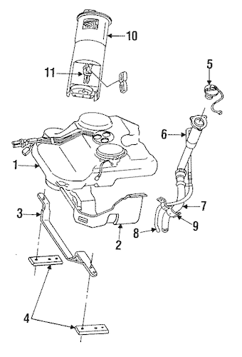 Fuel System Components for 1994 Chrysler Concorde Parts