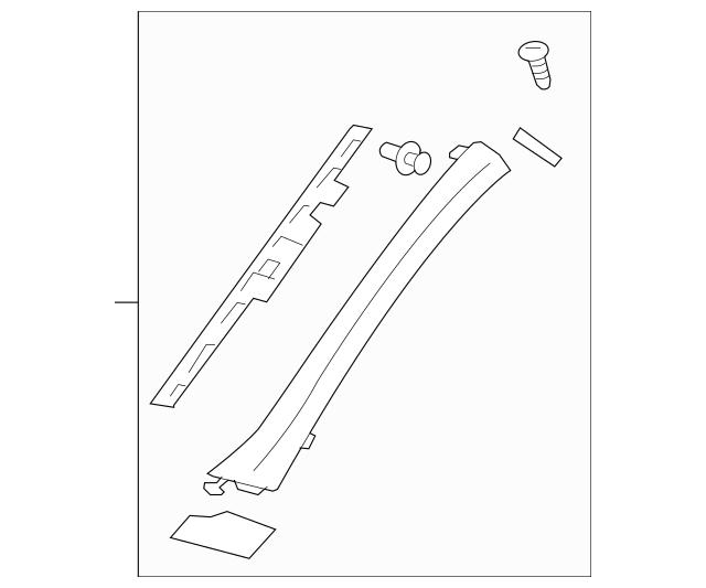 2006-2012 Mitsubishi Eclipse Windshield Pillar Trim