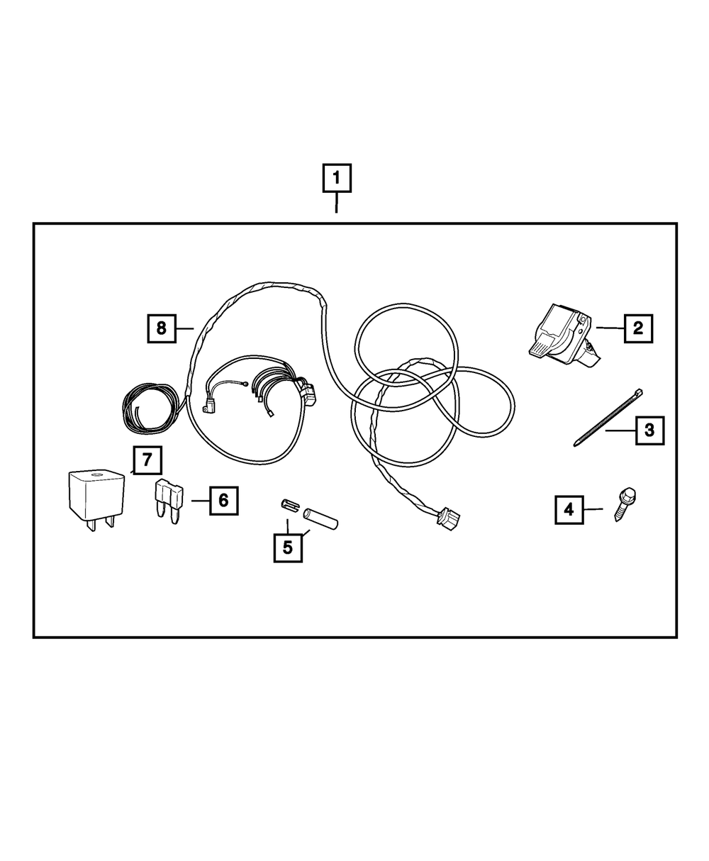 Genuine Tow Hitch Wiring Harness 7-Way Connector
