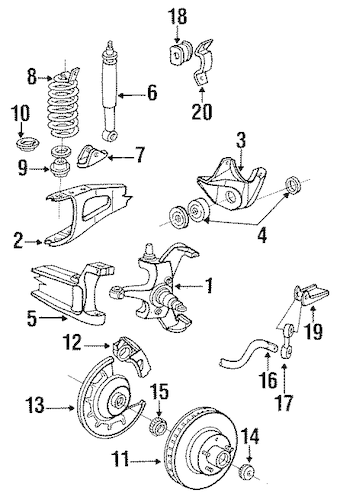 SUSPENSION COMPONENTS for 1989 Ford F-350