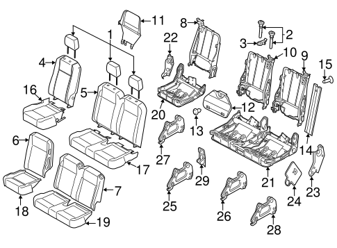 REAR SEAT for 2015 Ford Transit-350