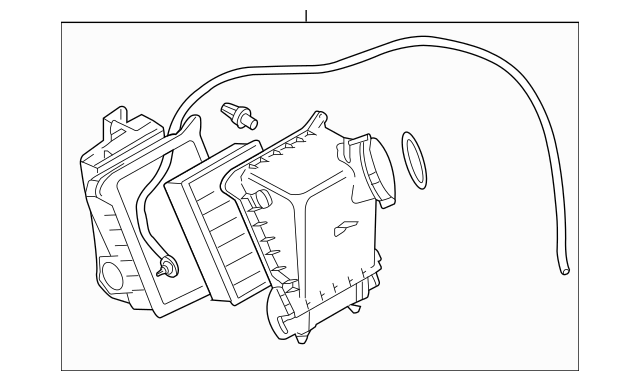 2004-2009 Audi S4 Air Cleaner Assembly 079-133-837-K