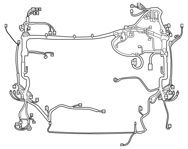 2009-2011 Toyota RAV4 Engine Harness 82111-42J20