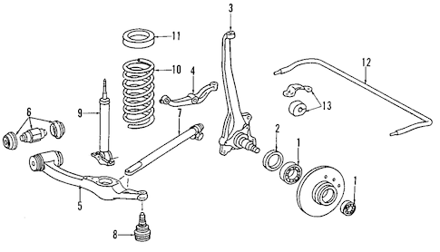 SUSPENSION COMPONENTS for 1988 Mercedes-Benz 560SL