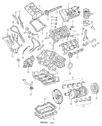 Engine for 1997 Ford Contour