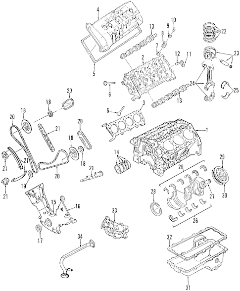 Engine for 2000 Ford Mustang