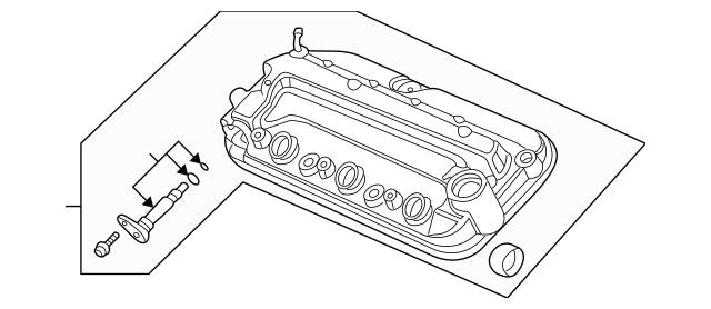 2005-2008 Acura RL SEDAN Cover, Front Cylinder Head 12310