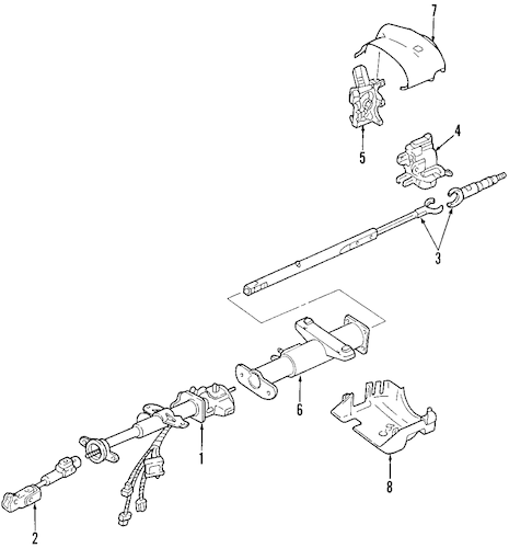 STEERING COLUMN Parts for 2006 Hummer H3