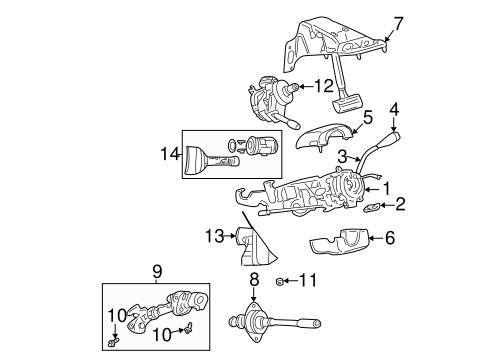 Steering Column Assembly for 2006 Dodge Dakota Parts