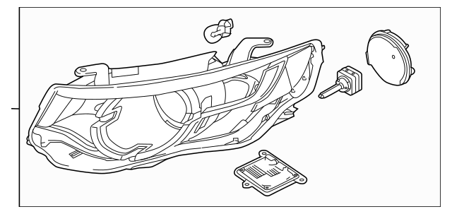 2015-2019 Land Rover Discovery Sport Headlamp Assembly