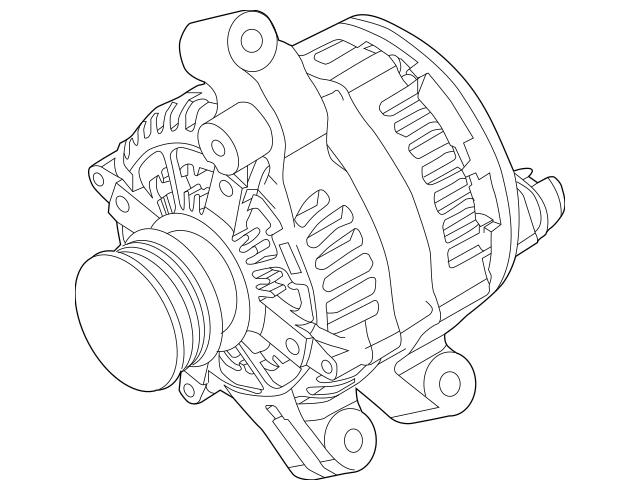 2012-2013 Ford Explorer Alternator BB5Z-10346-A