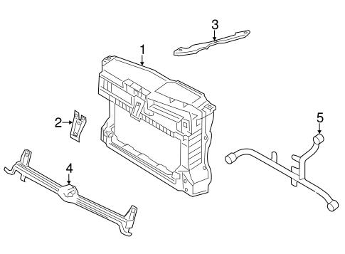 Radiator Support for 2016 Volkswagen Jetta