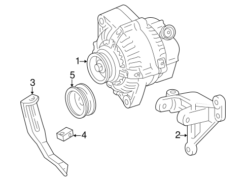 Genuine OEM Alternator Parts for 1998 Toyota RAV4 Base