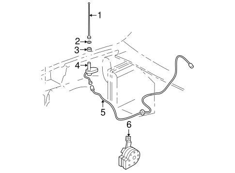 OEM 2002 Chevrolet S10 Antenna & Radio Parts