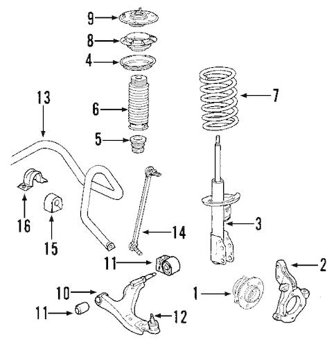 OEM 2008 Saturn Outlook Suspension Components Parts