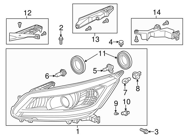 2016-2017 Honda Accord Headlight Assembly, L 33150-T2A-A81