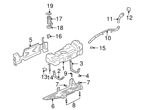 Fuel System Components for 2003 Chevrolet Trailblazer