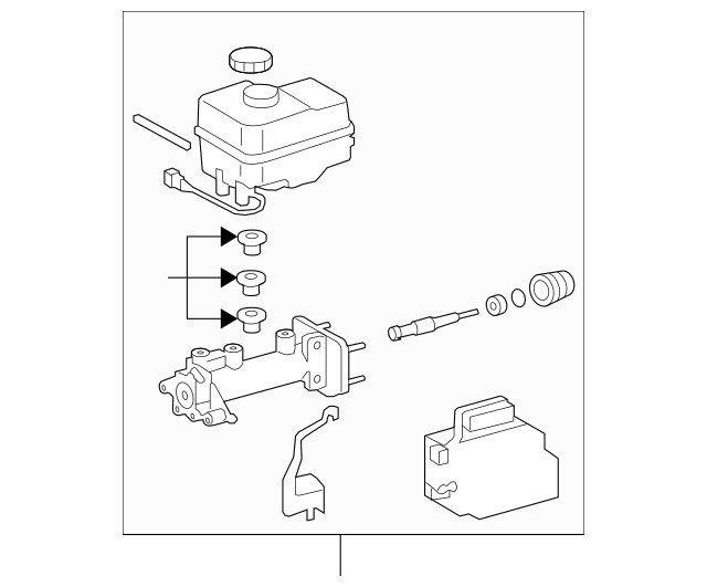 2013-2014 Toyota FJ Cruiser Master Cylinder 47025-35232