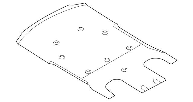 OEM Porsche Under Cover Part# 970-504-117-09 Fits 2014