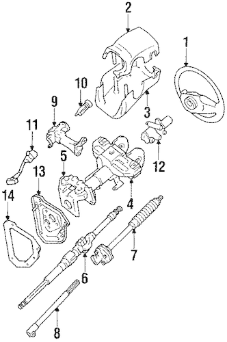 STEERING COLUMN COMPONENTS for 1990 Toyota 4Runner