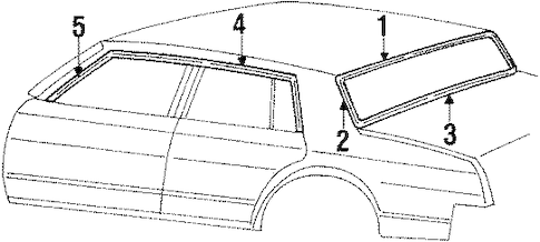 OEM 1985 Oldsmobile Cutlass Supreme Moldings Parts
