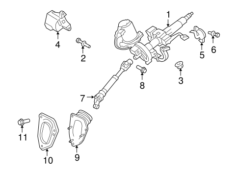 Genuine OEM Steering Column Assembly Parts for 2008 Toyota