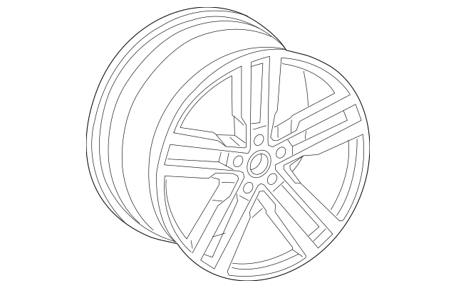2016-2018 Audi TT Quattro Wheel, Alloy 8S0-601-025-F